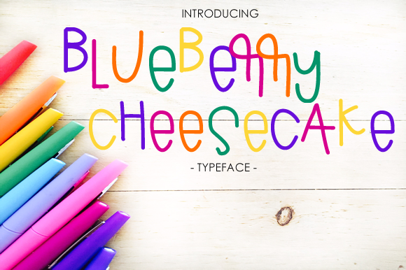 Print on Demand: Blueberry Cheesecake Script & Handwritten Font By yh.seaofknowledge - Image 1