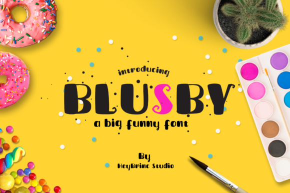 Print on Demand: Blusby Display Font By heybrinc.studio
