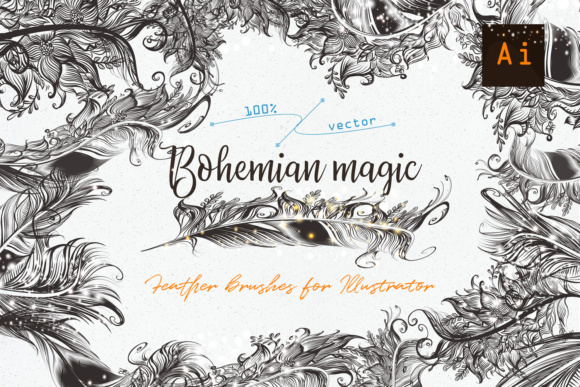 Bohemian Magic. Illustrator Brushes Graphic Brushes By fleurartmariia