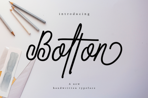 Print on Demand: Bolton Script & Handwritten Font By desinglabs91