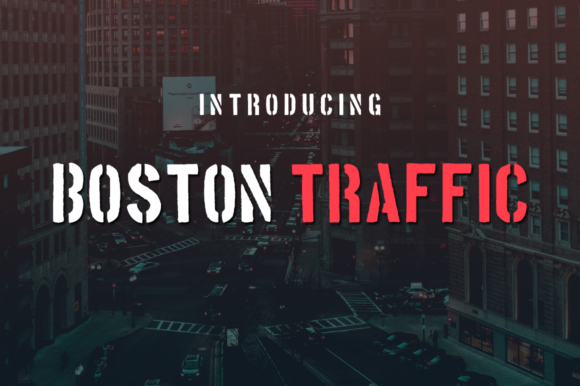 Print on Demand: Boston Traffic Display Font By Creative Fabrica Freebies