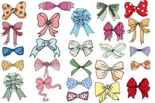 Download Free Bows Clip Art Bows Clipart Doodle Ribbons Clip Art Bow Tie for Cricut Explore, Silhouette and other cutting machines.