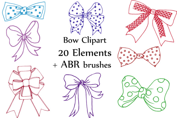 Bows Clip Art: Graphic Brushes By ChiliPapers