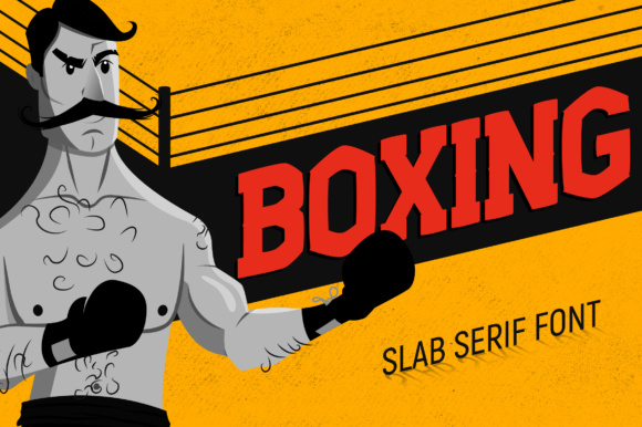 Print on Demand: Boxing Slab Serif Font By Corgi Astronaut - Image 1