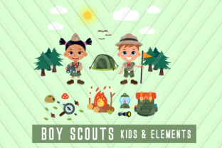 Download Free Boy Scout Children Clipart Graphic By Backthemc Creative Fabrica for Cricut Explore, Silhouette and other cutting machines.