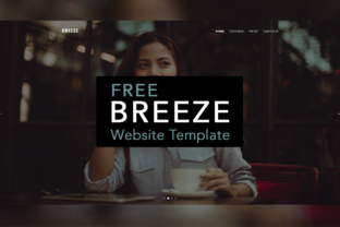 Breeze Website Template Graphic By Creative Fabrica Freebies