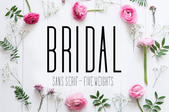 Print on Demand: Bridal Sans Serif Font By Corgi Astronaut