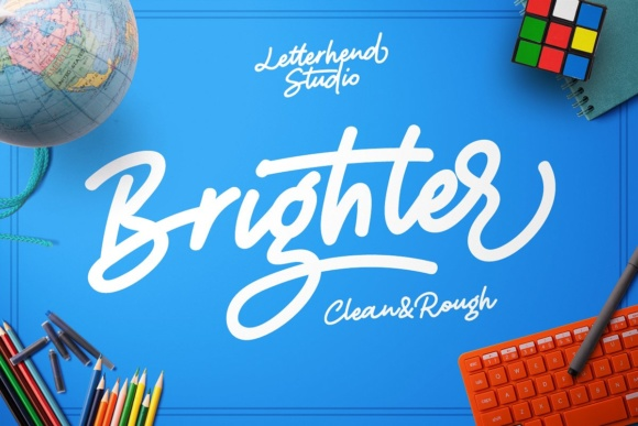 Print on Demand: Brighter Script Script & Handwritten Font By letterhend - Image 1