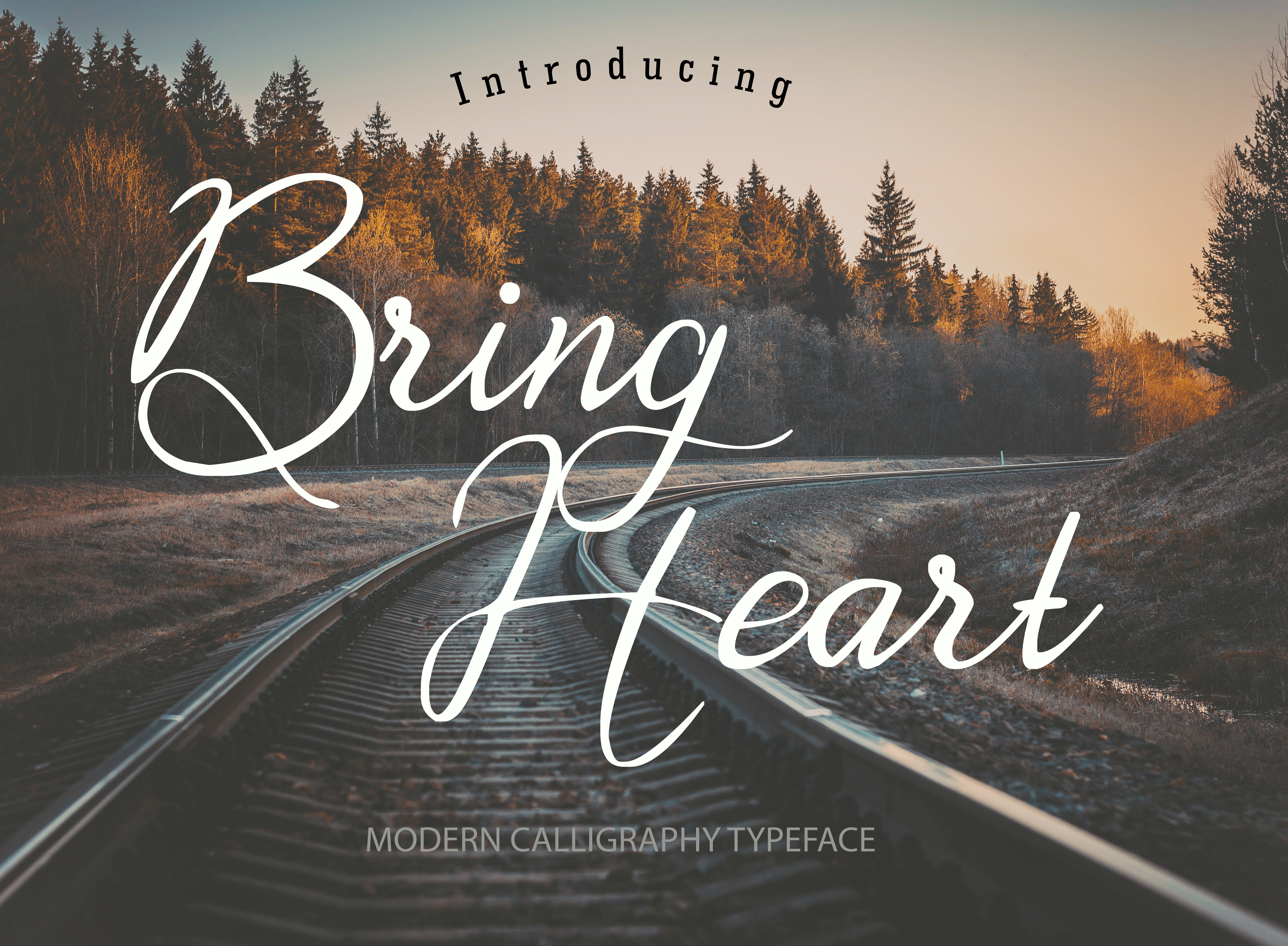 Download Free Bring Heart Font By Rochart Creative Fabrica for Cricut Explore, Silhouette and other cutting machines.