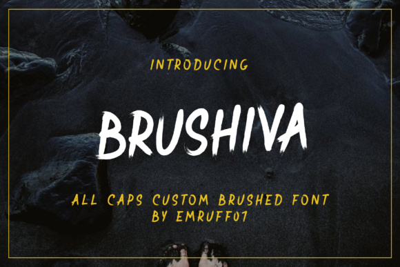 Print on Demand: Brushiva Display Font By emruff07