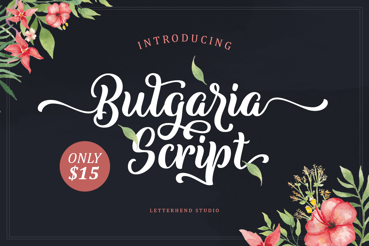 Download Free Bulgaria Script Font By Letterhend Creative Fabrica for Cricut Explore, Silhouette and other cutting machines.