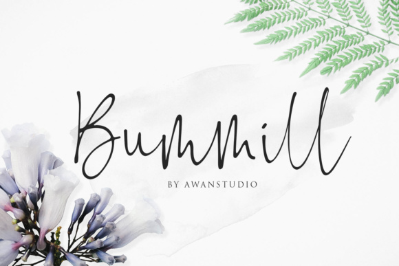Print on Demand: Bummill Script & Handwritten Font By Awanstudio