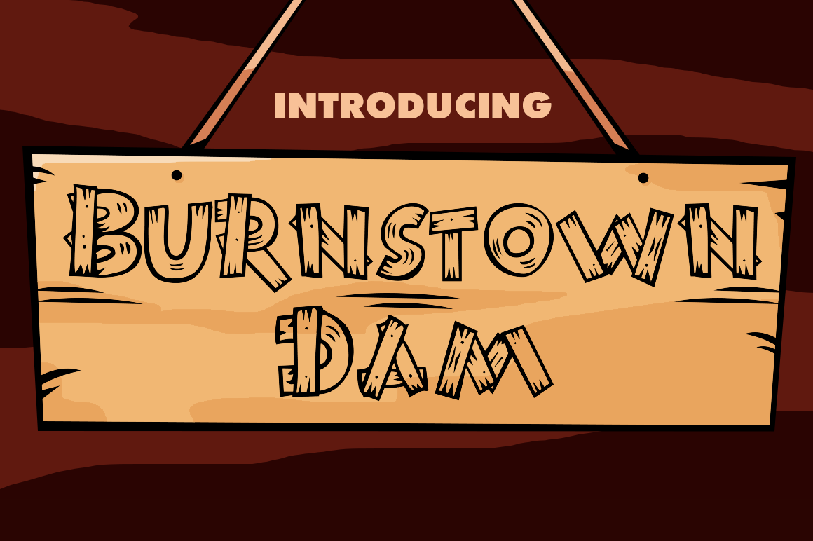 Download Free Burnstown Dam Font By Typodermic Creative Fabrica for Cricut Explore, Silhouette and other cutting machines.