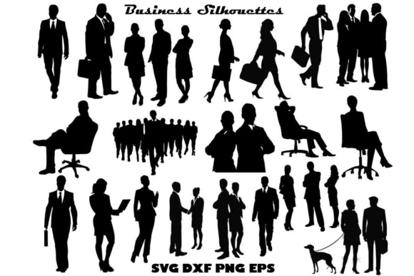 Business Silhouette SVG PNG DXF EPS Graphic Illustrations By twelvepapers