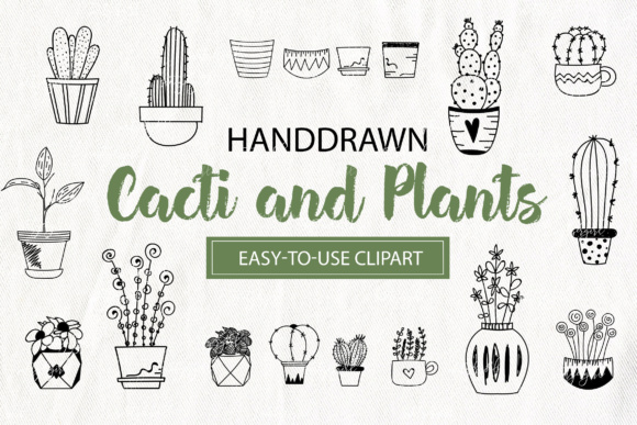 Download Free Cacti And Plants Clipart Florals Graphic By Switzershop for Cricut Explore, Silhouette and other cutting machines.