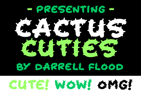 Print on Demand: Cactus Cuties Display Font By Dadiomouse