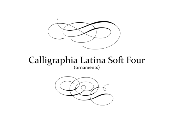 Print on Demand: Calligraphia Latina Soft 4 Dingbats Font By Intellecta Design