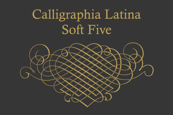 Print on Demand: Calligraphia Latina Soft Five Dingbats Font By Intellecta Design
