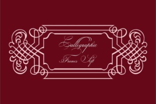 Calligraphic Frames Soft Font By Intellecta Design