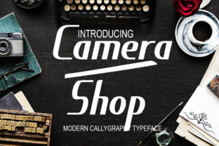 Camera Shop Script & Handwritten Font By siwah.wah52