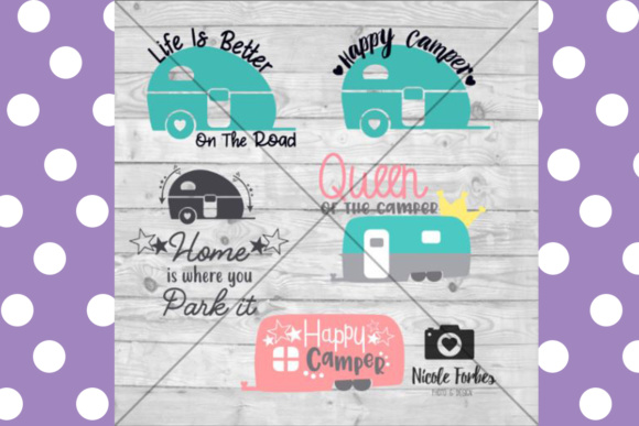 Camper RV Craft Files Graphic Crafts By Nicole Forbes Designs