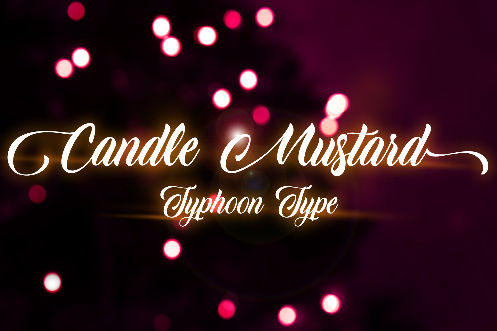 Download Free Candle Mustard Font By Typhoon Type Suthi Srisopha Creative for Cricut Explore, Silhouette and other cutting machines.