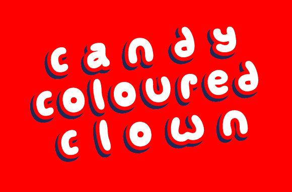 Print on Demand: Candy Coloured Clown Display Font By Jeremy Woods