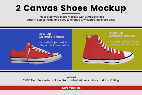 Canvas Shoes Mockup Graphic Product Mockups By gumacreative