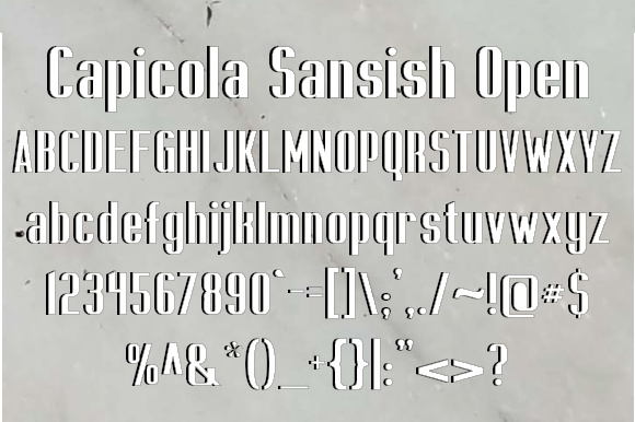 Print on Demand: Capicola Sansish Open Sans Serif Font By jeffbensch
