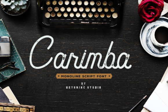 Print on Demand: Carimba Script & Handwritten Font By heybrinc.studio