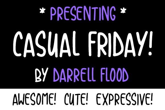 Print on Demand: Casual Friday Script & Handwritten Font By Dadiomouse
