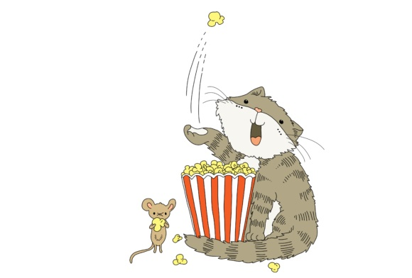 Cat and Mouse Illustrations Graphic Illustrations By Jen Digital Art - Image 6