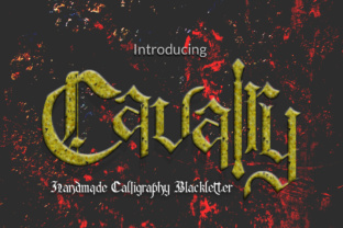 Print on Demand: Cavalry Blackletter Font By mcjer.studio