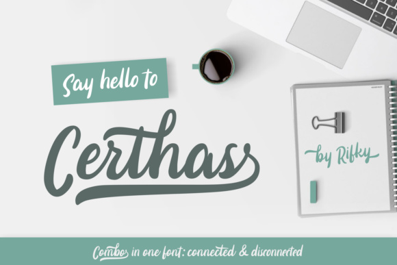 Print on Demand: Certhas Script & Handwritten Font By Rifki (7ntypes)