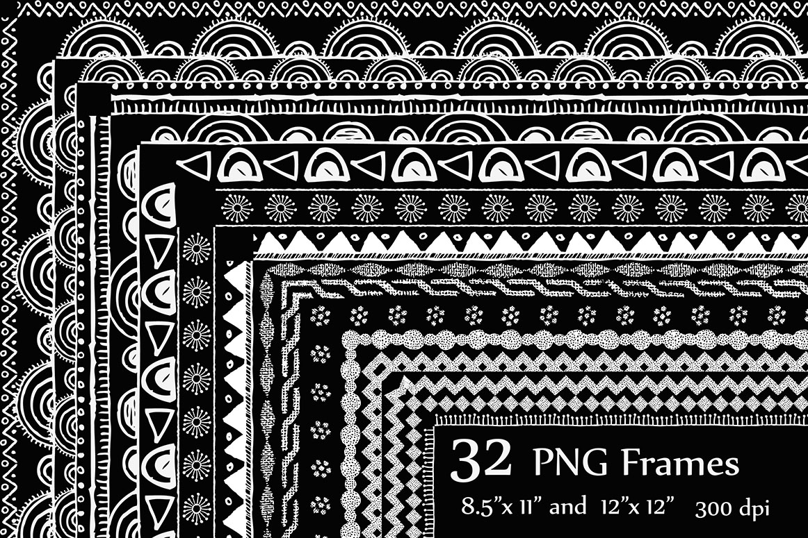Download Free Chalk Doodle Frame Clipart Frame Clipart Doodle Border Frame Graphic By Chilipapers Creative Fabrica for Cricut Explore, Silhouette and other cutting machines.