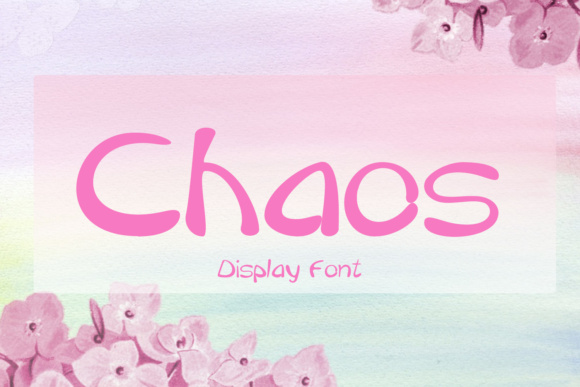 Print on Demand: Chaos Decorative Font By Emily Penley Fonts