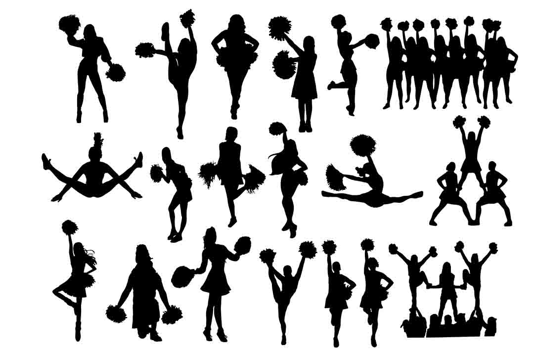 Download Free Cheerleader Graphic By Retrowalldecor Creative Fabrica for Cricut Explore, Silhouette and other cutting machines.