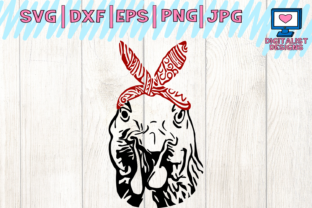 Chicken Svg, Chicken Clipart, Chicken Face Svg, Svg Files, Bandana, Farm Svg, Cricut, Silhouette, Printable, Iron on, Dxf, Png, Chicken Vector Graphic By digitalistdesigns