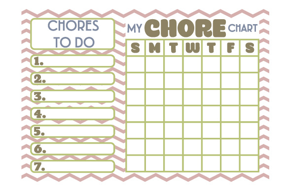 Download Free Chore Chart Svg Cut File By Creative Fabrica Crafts Creative for Cricut Explore, Silhouette and other cutting machines.
