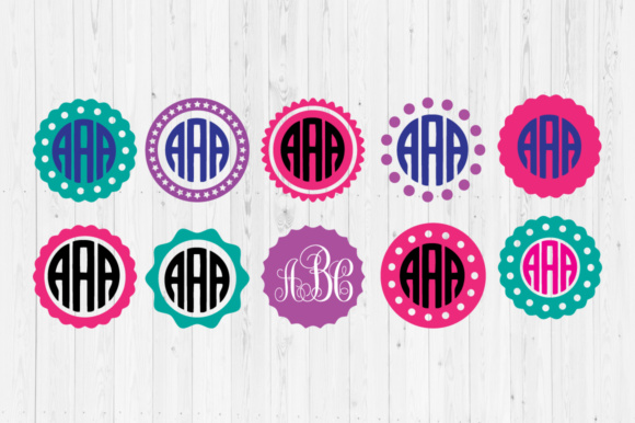 Download Free Circle Monogram Graphic By Cutperfectstudio Creative Fabrica for Cricut Explore, Silhouette and other cutting machines.