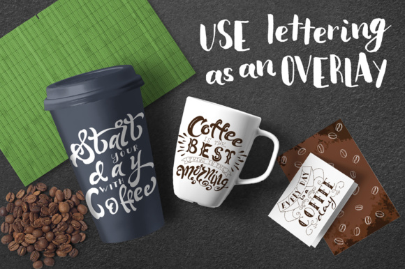 Coffee Lettering Pack Graphic By tregubova.jul Image 2