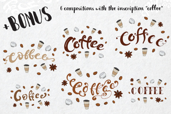 Coffee Lettering Pack Graphic By tregubova.jul Image 4