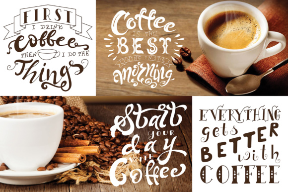 Coffee Lettering Pack Graphic By tregubova.jul Image 5