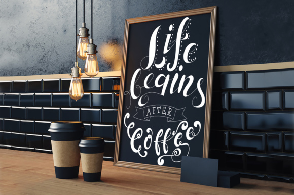 Coffee Lettering Pack Graphic Illustrations By tregubova.jul
