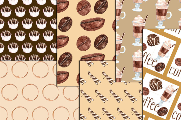Download Free Coffee Digital Paper Coffee Papers Coffee Clipart Coffee Bean for Cricut Explore, Silhouette and other cutting machines.