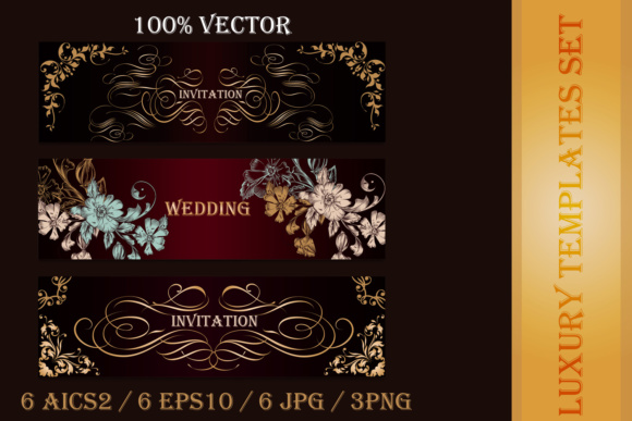 Collection of Luxury Templates and Cards Graphic Backgrounds By fleurartmariia