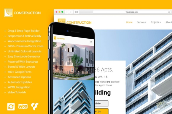 Construction WordPress Theme Graphic By Visualmodo WordPress Themes