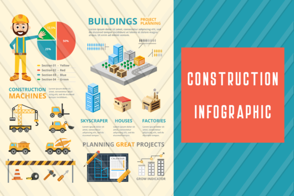 Construction - Infographic Template Graphic Infographics By backthemc - Image 1