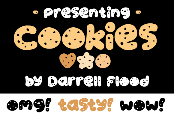 Print on Demand: Cookies Display Font By Dadiomouse