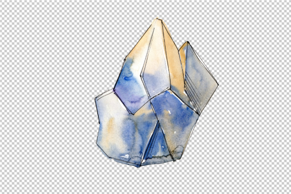 Download Free Cool Crystals Watercolor Set Graphic By Mystocks Creative Fabrica for Cricut Explore, Silhouette and other cutting machines.
